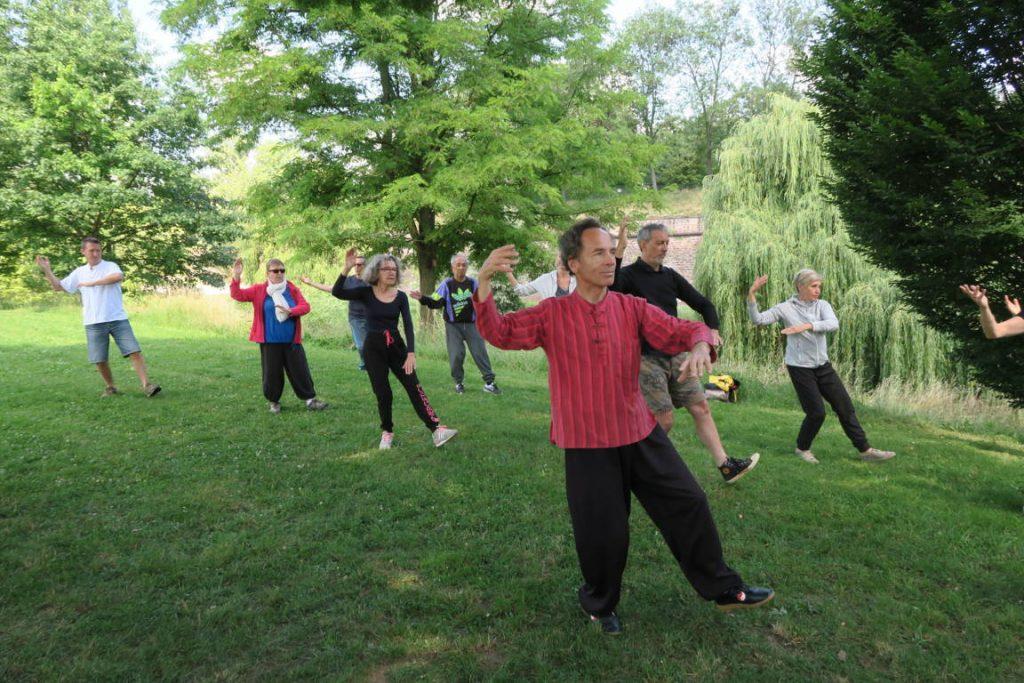 Mouvement : Brosser le genou dans le Tai Chi